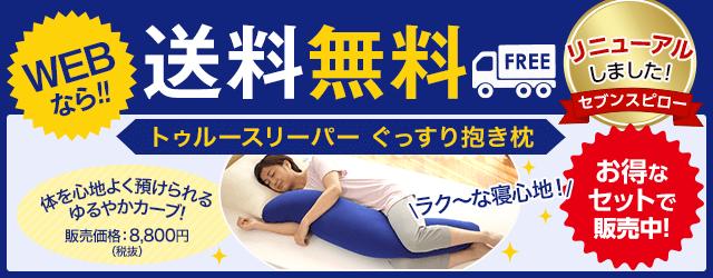 WEBなら送料無料!さらにマイクロビーズの抱き枕がついてお値段変わらず!