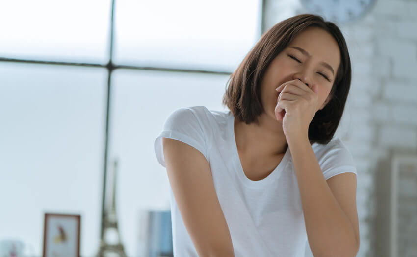日中あくびが止まらない 原因と予防方法