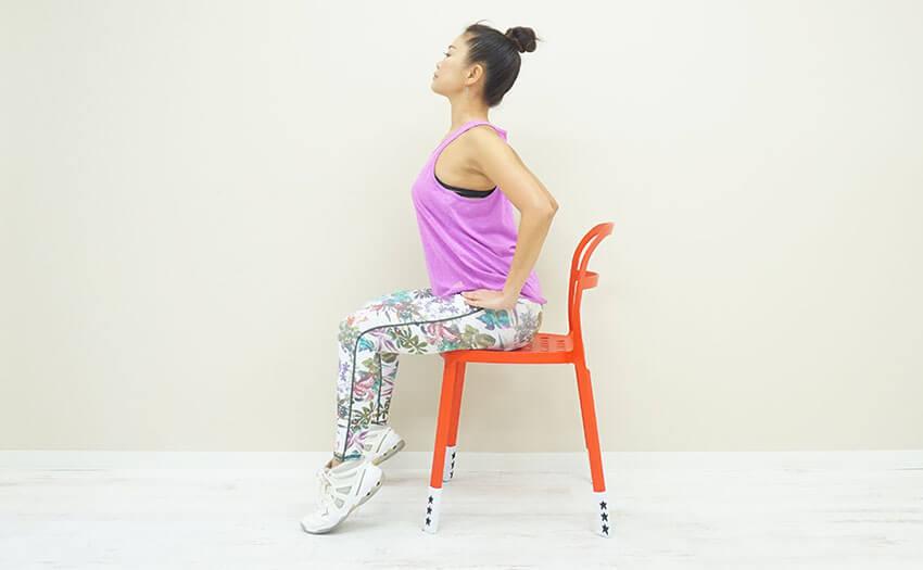 椅子を使ったエクササイズ-2