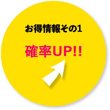 お得情報その1 確率UP!!