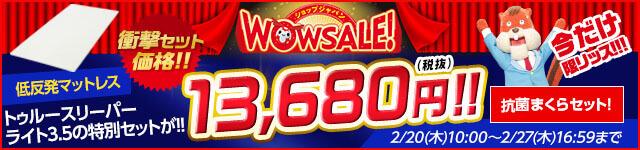 ショップジャパン WOWSALE! 低反発マットレス トゥルースリーパー プレミアムが!! 1万円引き! 低反発まくらセット!