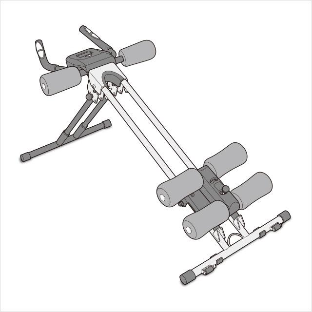 完成(1)|アブクラッシャー(腹筋マシン)の組み立て方