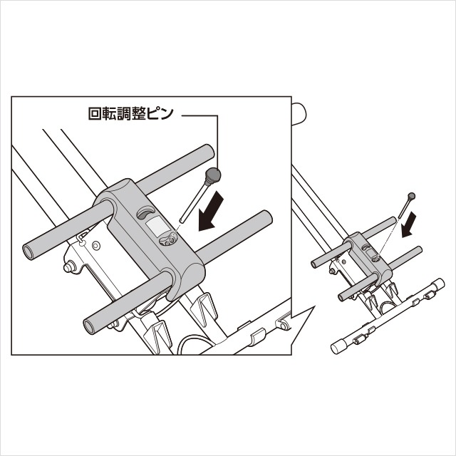 3.ひざ置き台を取り付ける(3)|アブクラッシャー(腹筋マシン)の組み立て方
