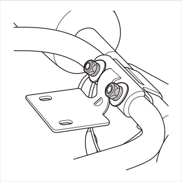 5.ハンドルをメインフレームに取り付ける(4)|アブクラッシャー(腹筋マシン)の組み立て方