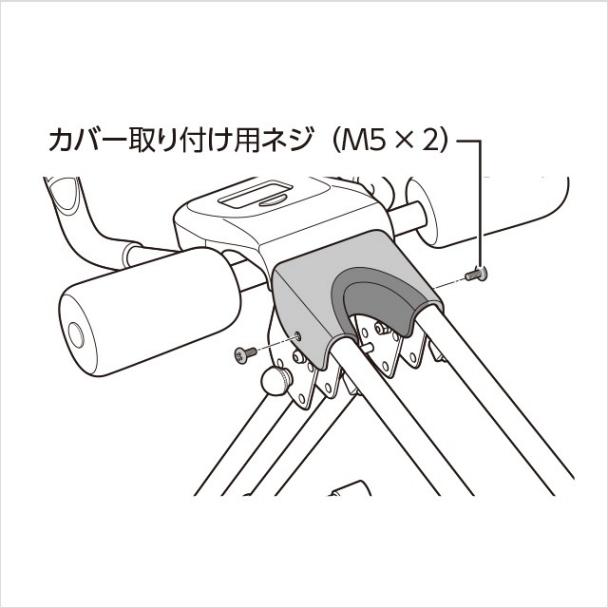 7.プラスチックカバーを取り付ける。(1)|アブクラッシャー(腹筋マシン)の組み立て方