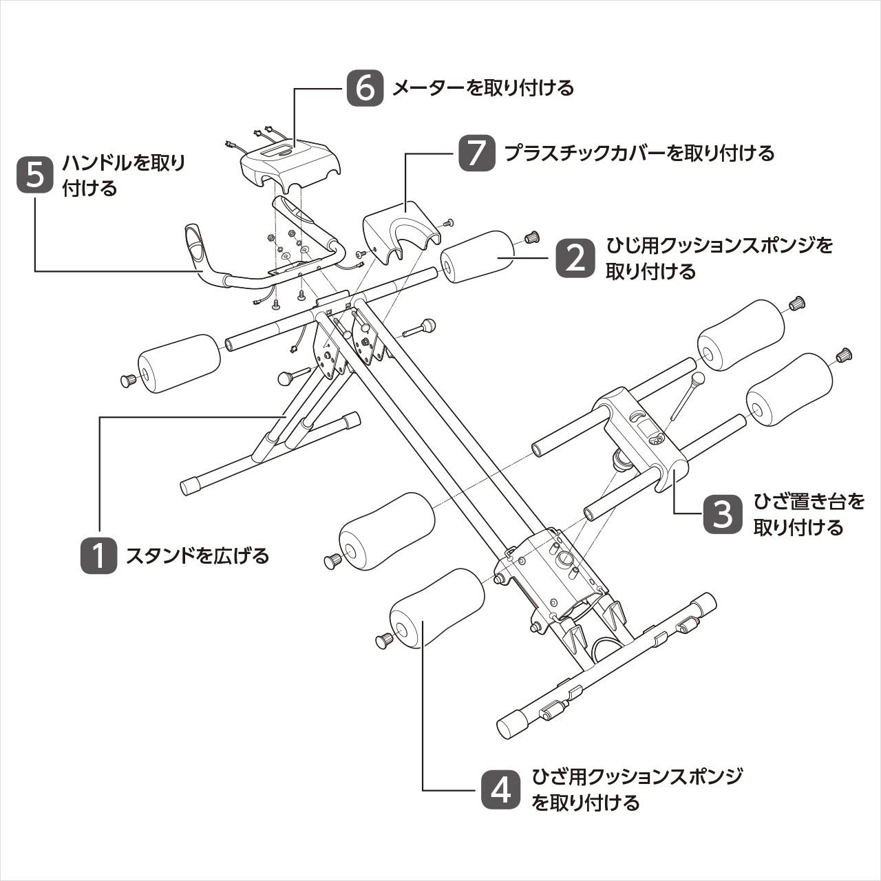組み立て全体像|アブクラッシャー(腹筋マシン)の組み立て方