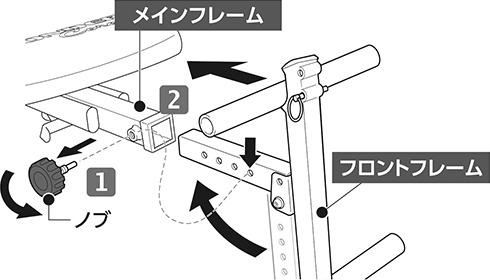 フロントフレームの組み立て(1)|ワンダーコア2の組み立て方