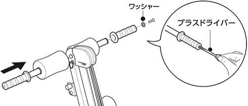 ハンドルの取り付け|ワンダーコア2の組み立て方