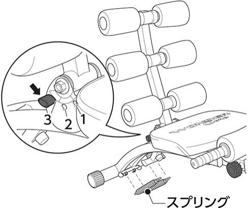 クランチ運動用のセッティング|ワンダーコア2の組み立て方