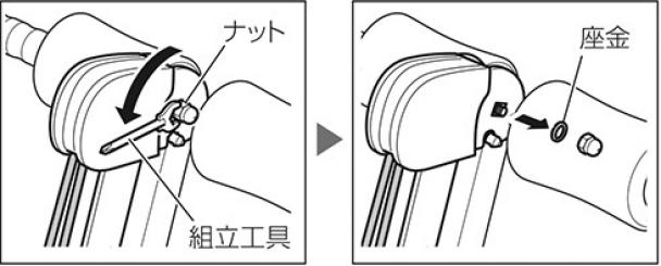 ローイングキットの取り付け(1)|ワンダーコア2の組み立て方