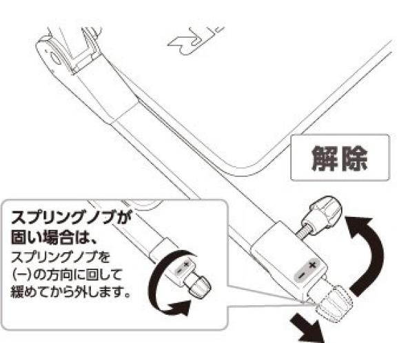 アームの折りたたみ方(1)|ワンダーコア スマートの組み立て方