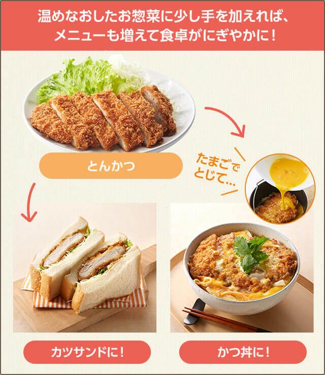 温めなおしたお惣菜に少し手を加えれば、メニューも増えて食卓がにぎやかに!