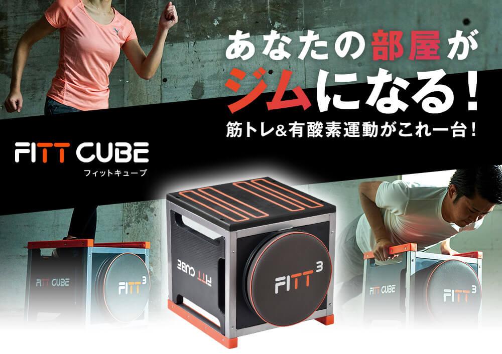 FITT CUBE フィットキューブ あなたの部屋がジムになる! 筋トレ&有酸素運動がこれ一台!