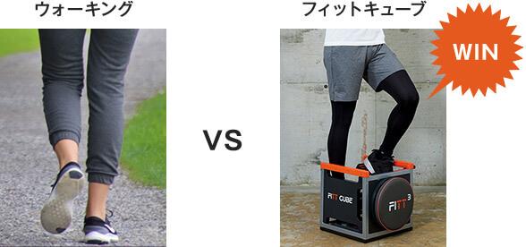 ウォーキング VS フィットキューブ WIN