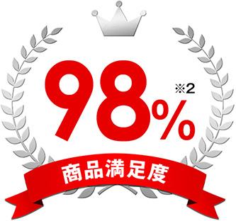 商品満足度98%※2