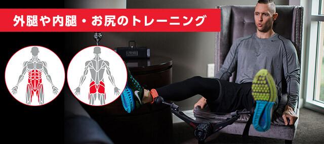 外腿や内腿・お尻のトレーニング