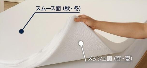 専用保護カバー付きで一年中快適な眠り