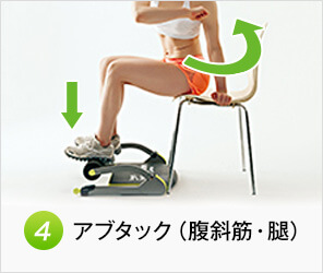 【4】アブタック(腹斜筋・腿)