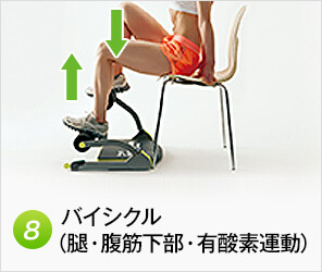 【8】バイシクル(腿・腹筋下部)