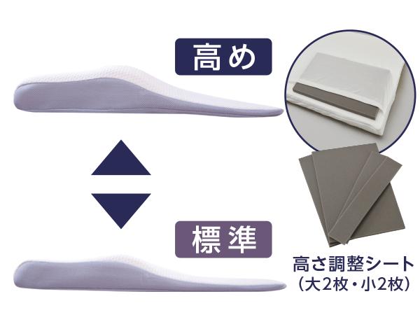 高め 標準 高さ調整シート(大2枚・小2枚)