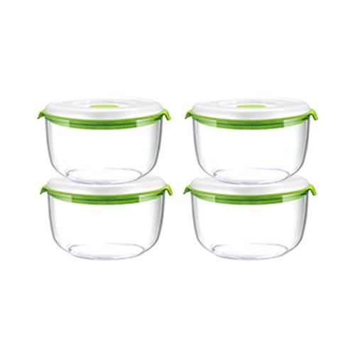【公式】フォーサ 丸型真空コンテナ(小)4個セット食品真空保存容器「フォーサ」専用の真空コンテナ<Shop Japan(ショップジャパン)公式>