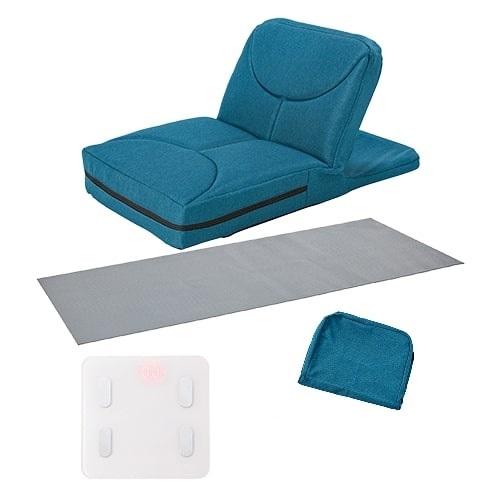 【公式】ゴロネックス 最大半額セット(ネイビー)ごろ寝姿勢で楽ちん腹筋!自力では起き上がりが難しい腹筋運動をアシストしてくれる座椅子型腹筋マシン<Shop Japan(ショップジャパン)公式>