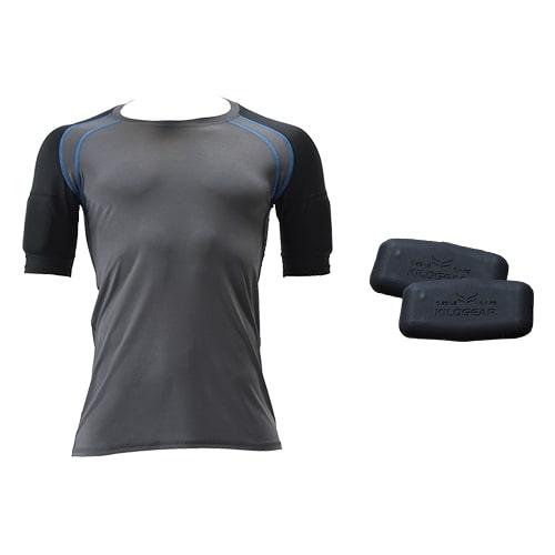 【公式】キロギア半袖(メンズ)Sセット ウエイト2個付き着るだけ効率エクササイズ!アメリカL.A.発、トレーニングウェア!<Shop Japan(ショップジャパン)公式>