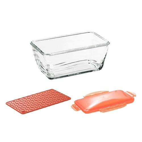 【公式】耐熱ガラス容器3点セットナイサーダイサ―シェフ専用ガラス容器、保存用フタ、ガラス容器マット(滑り止めマット)の3点セット。<Shop Japan(ショップジャパン)公式>