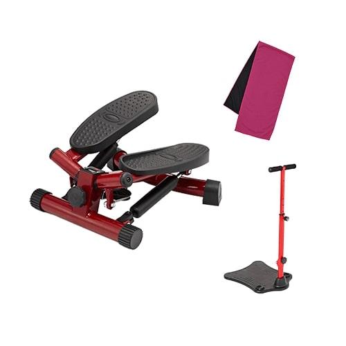 【公式】健康ステッパー ナイスデイ(レッド) 専用ハンドルセット手軽に運動!軽量・コンパクトなステッパー。<Shop Japan(ショップジャパン)公式>