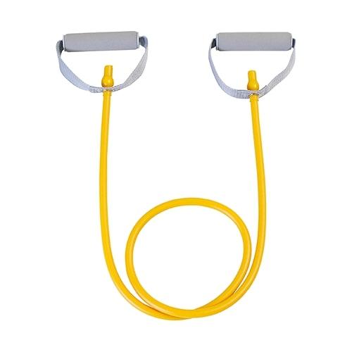 【公式】エクササイズチューブ MEDIUM左右の大きなハンドルで安全に運動できます。<Shop Japan(ショップジャパン)公式>