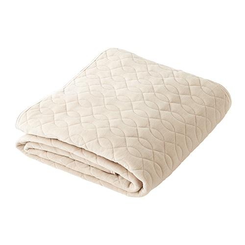【公式】ふんわり抗菌敷きパッド セミダブル肌に触れる面は綿100%ふんわり・さらりとした肌ざわりの敷きパッド<Shop Japan(ショップジャパン)公式>