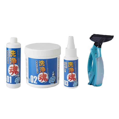 【正規品】洗浄魂(せんじょうだましい) - 洗浄魂 バキュームクリーナーセット <Shop Japan(ショップジャパン)公式>プロも絶賛!ガンコな汚れをみるみる落とす多目的洗剤。