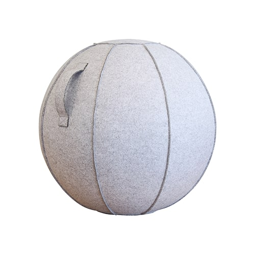 【公式】カバー付バランスボール(55cm)ライトグレーライトグレーのフェルトカバー付のバランスボール(55cm)<Shop Japan(ショップジャパン)公式>