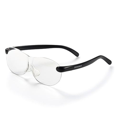 【公式】ズーミイ ブラック見やすさと洗練されたデザインを兼ね備えたメガネ型拡大鏡<Shop Japan(ショップジャパン)公式>