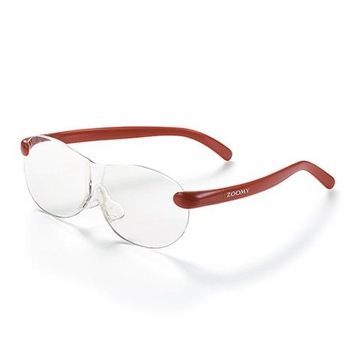 【公式】ズーミイ レッド見やすさと洗練されたデザインを兼ね備えたメガネ型拡大鏡<Shop Japan(ショップジャパン)公式>