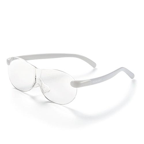 【公式】ズーミイ グレー見やすさと洗練されたデザインを兼ね備えたメガネ型拡大鏡<Shop Japan(ショップジャパン)公式>