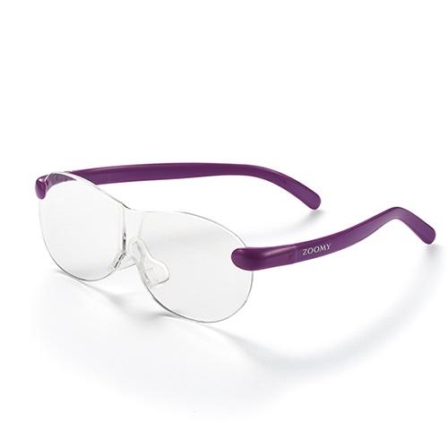 【公式】ズーミイ パープル×2(プレゼント付き)見やすさと洗練されたデザインを兼ね備えたメガネ型拡大鏡<Shop Japan(ショップジャパン)公式>