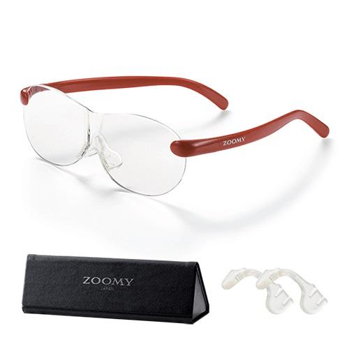 【公式】ズーミイ レッド(プレゼント付)見やすさと洗練されたデザインを兼ね備えたメガネ型拡大鏡<Shop Japan(ショップジャパン)公式>