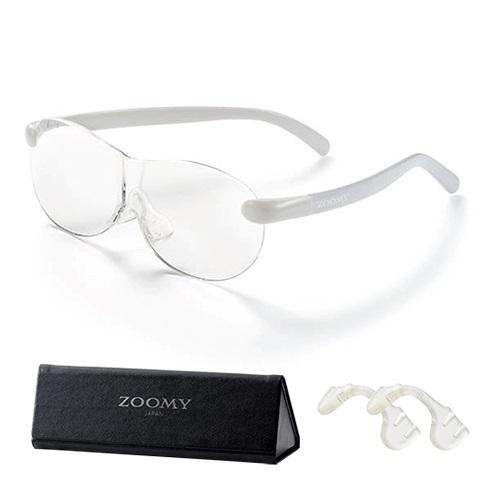 【公式】ズーミイ グレー(プレゼント付)見やすさと洗練されたデザインを兼ね備えたメガネ型拡大鏡<Shop Japan(ショップジャパン)公式>