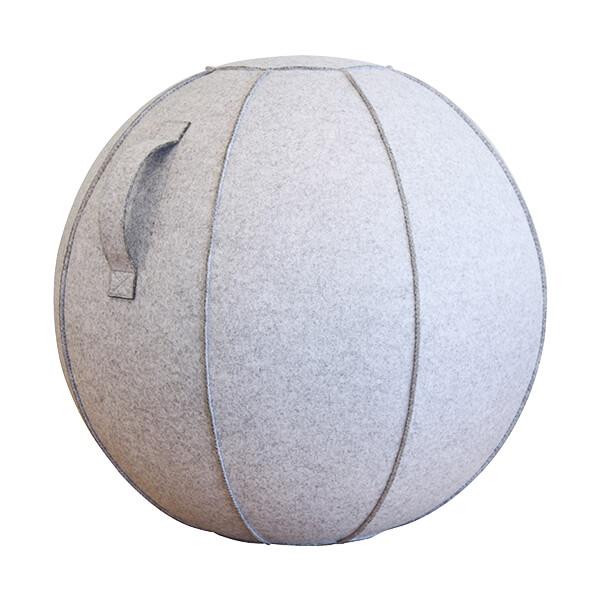 カバー付バランスボール(55cm)ライトグレー