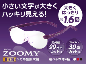 メガネ型拡大鏡 ズーミイ